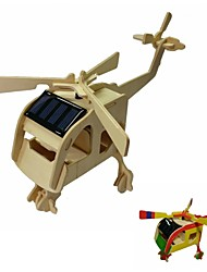 DIY Colored Drawing and Solar Assembled Helicopter Kit Toys