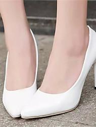 Stiletto - 6-9cm - Damenschuhe - Pumps/Heels ( Gummi , Schwarz/Rot/Weiß )