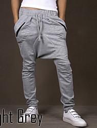 moda casuais mens hip hop calças harem cair calças desportivas virilha cordão largas cinza tamanho ásia preto / tag m-xxl
