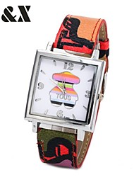 Women's Fashion Diamond Colorful Love Bear Design Quartz Analog Leather Band Wrist Watch(Assorted Colors)