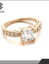 2015 Latest Plating 18K Gold Zircon Wedding Ring