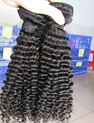 3pcs / lot, 12-26 polegadas cabelo virgem tece peruano, crespo kinky, 1b cor natural, atacado fábrica.