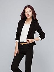 Women's Work Medium Long Sleeve Short Blazer (Others)