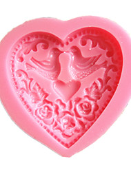Heart Bird Love Cake Molds Chocolate Mould For The Kitchen Baking Clay Mold Sugarcraft Decoration Tool