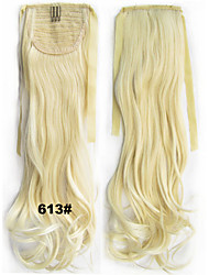 """22""""(55cm) Long Curly Ribbon Ponytail Synthetic Clip in Ponytails hair extension"""