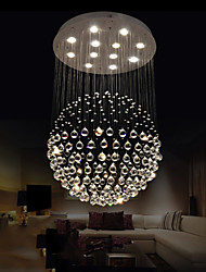 LED Pendant Lights Modern Crystal Chandeliers Clear K9 Crystal Globe Ceiling Lamps Fixtures