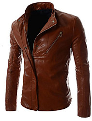 Men's Cool Casual Faux Leather Coat
