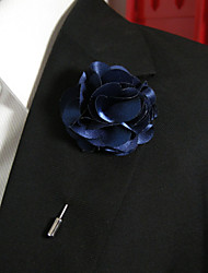 Men's Casual Dark Blue Silk Goods Brooch