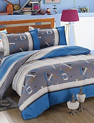 Mingjie Blue Letters Bedding Sets 4pcs Duvet Cover Sets Bed Linen China Queen Size and Full Size