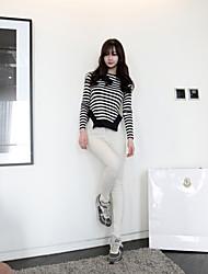 Women's Vintage White High Waist Jeans
