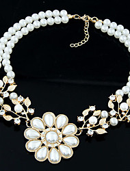 New Arrival Fashional Delicate High Quality Flower Pearl Necklace
