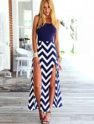 fulldress Women's Beach Straps Sleeveless Dresses (Cotton Blend)