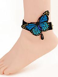 mulheres corpo moda jóias charme do laço do vintage borboleta arco tornozeleiras confortáveis