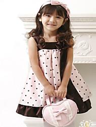 Girl's Cotton  Inelastic Medium Sleeveless Sweet Dot Princess Dresses