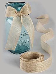 Color sólido Yute Cintas de boda-5M Pedazo / Set Cinta de Tejido Lazo Para Regalo