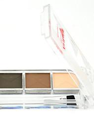 Red&Black 3 Colors Eyebrow Eyeshadow Palette Long-lasting Matte Fine Powder 3.6g
