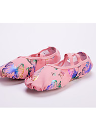 High Quality Canvas Upper Dance Shoes Ballet Slipper for Women and Men Pink butterfly