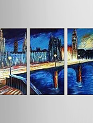 Oil Painting by Van Gogh Decoration Abstract  Hand Painted Canvas with Stretched Framed - Set of 3