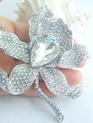 Wedding Accessories Wedding Deco Silver-tone Clear Rhinestone Crystal Bridal Brooch Wedding Bouquet Bridal Jewelry