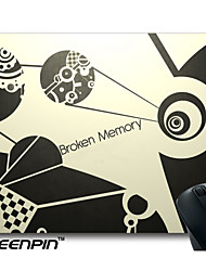 SEENPIN Personalized Mouse Pads 3D Black And White Art Broken Memory Design