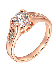 T&C Women's 18K Rose Gold Plated Mounting 1.2 Ct Zirconia Diamond Engagement Jewelry Rings