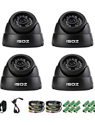 ZOSI® 4 pcs Camera Kit 700TVL IR Cut Indoor CCTV Day Night Seurity  Surveillance Dome Camera