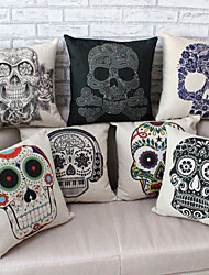 High Quality Skull Printing  Pillow Cover (18*18 inch)