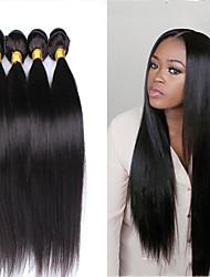 "3 Pcs/Lot 8""-24"" Brazilian Virgin Hair Natural Black Color Straight Hair Unprocessed Raw Human Hair Extensions Hot Sale."