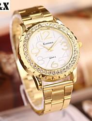 marbre de diamant de la mode miroir quartz ceinture en acier analogique montre bracelet des femmes