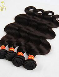 "4Pcs Lot 12""-28"" Brazilian Body Wave Virgin Remy Human Hair Extensions/Weave Bundles Natural Black Color 1B# Tangle Free"