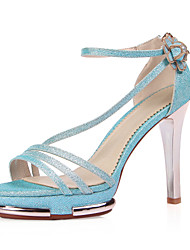 Women's Shoes Synthetic Stiletto Heel Heels/Peep Toe Sandals Wedding/Outdoor/Office & Career/Party & Evening