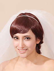 Wedding Veil Three-tier Headpieces with Veil Pencil Edge 31.5 in (80cm) Tulle White White