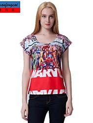 Druckt-shirt sexy bodycon Rundkragen Shirt Ärmel cmfc®women die unter T-Shirt beiläufigen Allgleiches Oberbekleidung