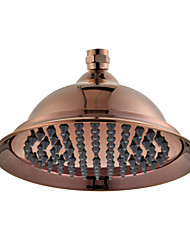 "8"" Rose Gold Finish Brass Telephone Classic Style Water Saving Rain Shower Head for Bath"