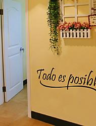наклейки стены стиль наклейки TODO эс Возможное английские слова&цитирует наклейки ПВХ стены