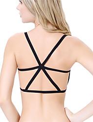 Padded Bra Crop Tops Women Sport Vest Cut Out Shirt Summer Beach Tank Tops