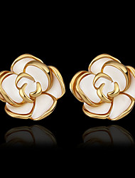 Stud Earrings Brass Gold Plated 18K gold Gold Jewelry 2pcs