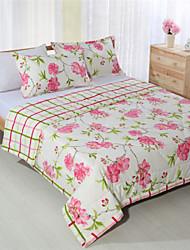 Handarbeit Patchwork king queen pink floral Sommer Quilts für Mädchen 100% Baumwolle