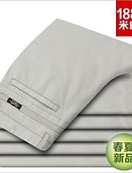 affaires mince occasionnels pantalon décontracté haut de gamme pour hommes 100% peignés pantalons de coton Taille 29-38 drop shipping