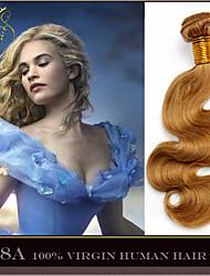 "3Pcs 14-28"" Cinderella Hair Extensions Honey Blonde Brazilian Body Wave Virgin Human Hair Weave Bundles 7A Color 27"