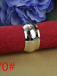 6pcs 25mm Drum Striae Copper Napkin Ring