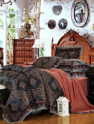 tissu yuxin®tencel modale satin jacquard Suite literie de mariage une famille de quatre / reine / taille réelle de roi