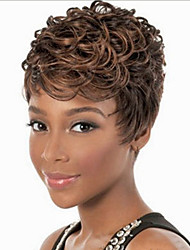 Europe And The United States The New Black Character Short Curly Wig