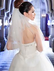 Wedding Veil Four-tier Elbow Veils Cut Edge