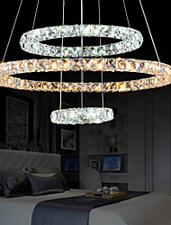 LED Crystal Chandelier Lights Lighting Lamps Transparent Crystal Cool White AND Warm White Ceiling Round Fixtures