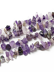 "Beadia Amethyst Stone Beads 5-8mm Irregular Shape DIY Loose Beads For Making Necklace Bracelet 34""/Str"