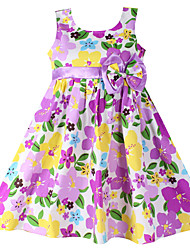 Girls  Fashion Floral Cotton Party Casual Kids Clothing Dresses