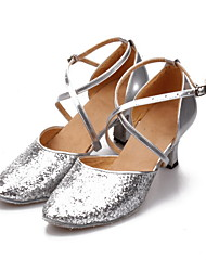 Women's Sparkling Glitter Cross Stripe Modren Dance Shoes (More Colors)