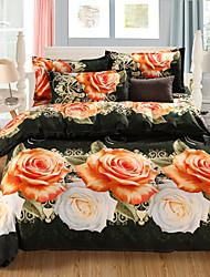 3D-Design-Muster gedruckt 4pcs Bettwäsche-Sets Tröster setzt Queen-Size Bettbezug Bettlaken