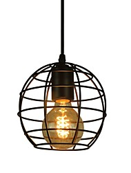 Globe Shape Europe Style Vintage Chandeliers for Dining Room,Black